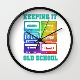 Old school Cassettes Retro Vintage 80s 90s Wall Clock