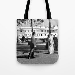 Vintage Lake George: The Sagamore Docks at Green Island Tote Bag