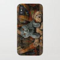 kpop iPhone & iPod Cases featuring Cat Diesel with teddybear ! by teddynash