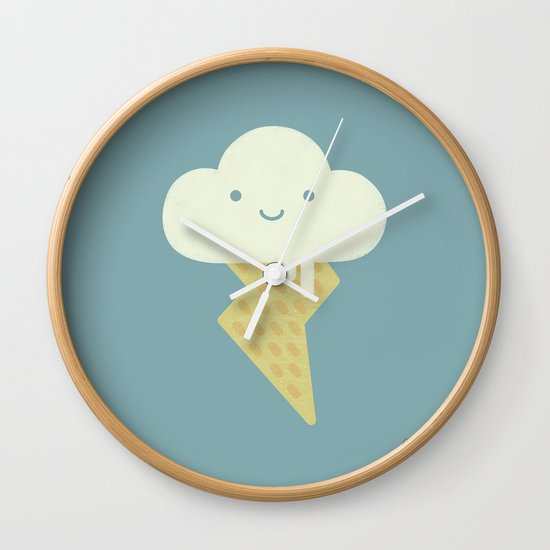 Stormy and Sweet Wall Clock