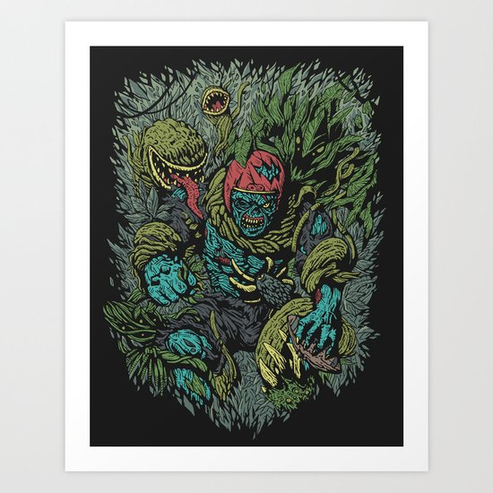 Zombie vs Plant! Art Print