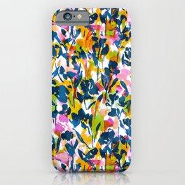 Mazy Beauty Navy Green Orange iPhone Case