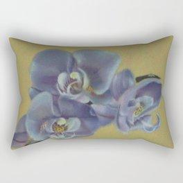 Purple Orchids Rectangular Pillow
