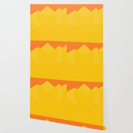 Colorful Yellow Abstract Shapes Wallpaper