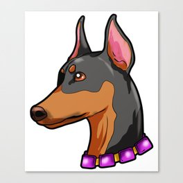 Doberman Pinscher Dog Puppy Present Dobermann Canvas Print