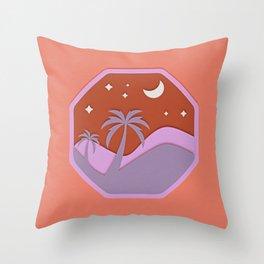 Silent Desert Night Throw Pillow