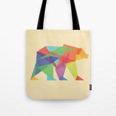 Fractal Geometric bear Tote Bag