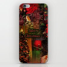 The Christmas collage merry christmas iPhone & iPod Skin