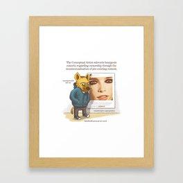 The Conceptual Artist Framed Art Print