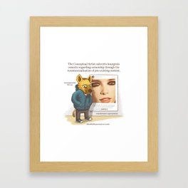 The Conceptual Artist Framed Art Print