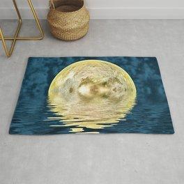 Golden moon Rug