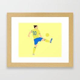 Zlatan Ibrahimovic Sweden Print Framed Art Print