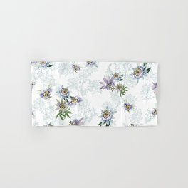 Passionflower mist on white Hand & Bath Towel