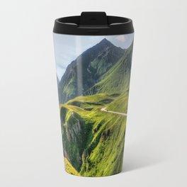 Mountains, green, gigantic, steep and rolling Travel Mug