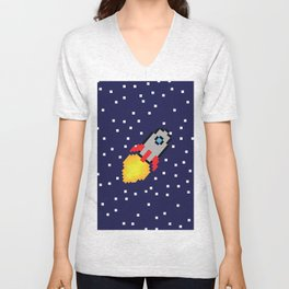 8-bit Space Adventure! Unisex V-Neck