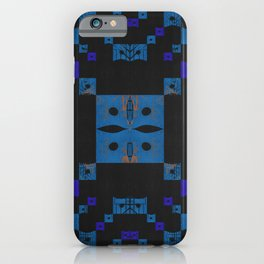Shipibo Inspired Digital Embroidery Midcentury Modern Pattern iPhone Case