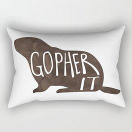 Gopher it! Rectangular Pillow