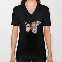 Butterfly in Bloom II Unisex V-Neck