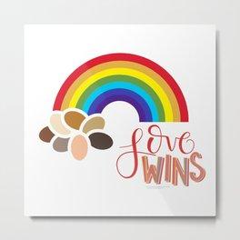 Love Wins Metal Print