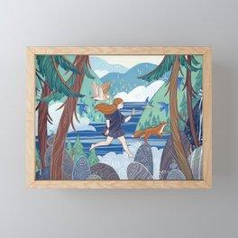 Run Framed Mini Art Print