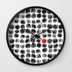 RED BALL Wall Clock