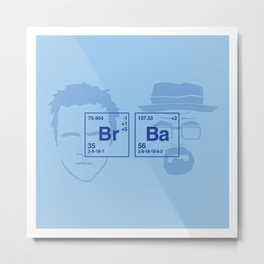 Breaking Bad | Baby Blue Metal Print