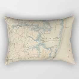 Vintage Map of Ocean City Maryland (1900) Rectangular Pillow