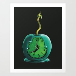 Haunted Mansion 13th Hour Clock Apple Art Print