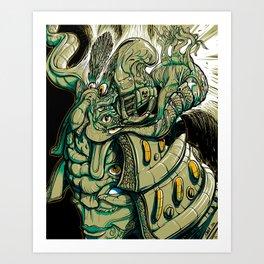 Buddhist Samurai Art Print