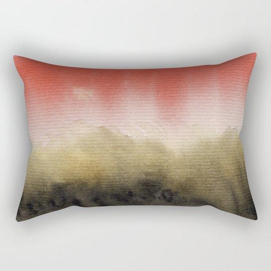Watercolor abstract landscape 14 Rectangular Pillow