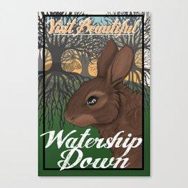 Visit Beautiful Watership Down Canvas Print
