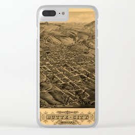 Map Of Butte 1884 Clear iPhone Case