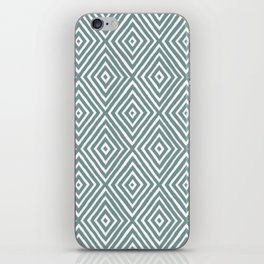 diamond painted-blue iPhone Skin
