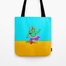 Sugarplum Triceratops Tote Bag