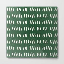 MATISSE ABSTRACT CUTOUTS . FOREST WHITE Metal Print