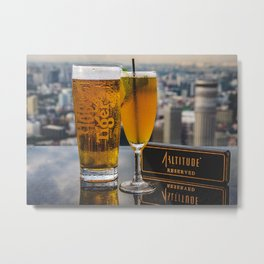 Drinks At The Rooftop Metal Print