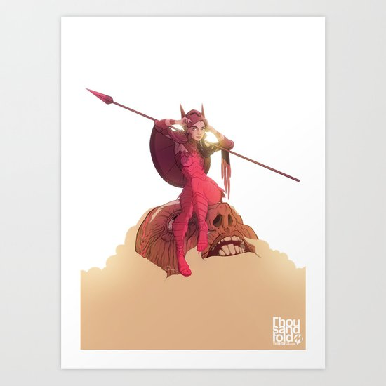 Athena Fully Formed Art Print