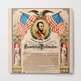 1863 Emancipation Proclamation by President Abraham Lincoln Metal Print
