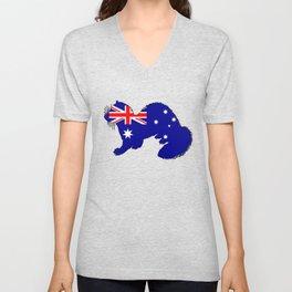 Australian Flag - Ferret Unisex V-Neck