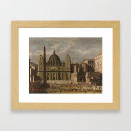 CODAZZI, VIVIANO Bergamo, 1604 - Roma, 1670 Exterior of Saint Peters, Rome Ca. 1636 Framed Art Print