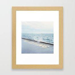 No Diving, Kingston, Ontario Framed Art Print