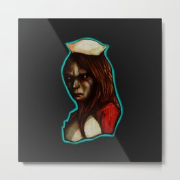 Sad Lisa Metal Print