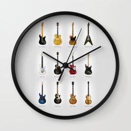 Guitar Icons No2 Wall Clock