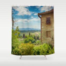San Gimignano, Tuscany, Italy Shower Curtain