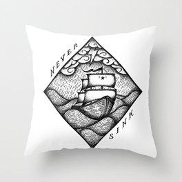 NEVER SINK Throw Pillow