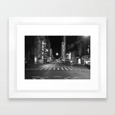 Christmas Time in The City Framed Art Print