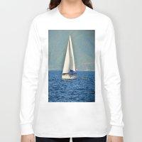 sailboat Long Sleeve T-shirts featuring Sailboat by Joe Mullikin