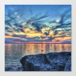 Wine & Sunsets Canvas Print