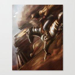 Cowboys & Engines Canvas Print