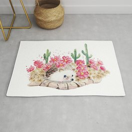 Camouflage - Hedgehog and Cactus Rug